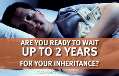 What is an inheritance loan or cash advance